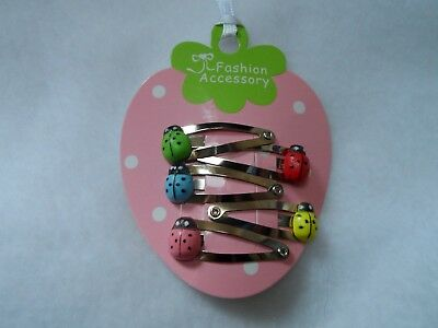 girls hair clips snap clips slides bendies hair clip mini clips baby ladybirds 5