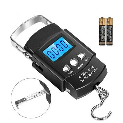 Digital Fishing Scales 50kg/10kg Mini Pocket Luggage Travel Weighting Electronic