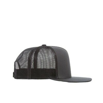 bfaa595e988 Flat bill Trucker Cap Mesh back Hat Snap back SNAPBACK Yupoong Charcoal