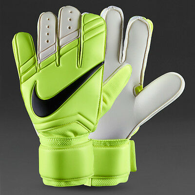 Nike GK Vapor Grip 3 Gloves Sz:8.5 /11 /12 Goalkeeper Football Volt White Rare