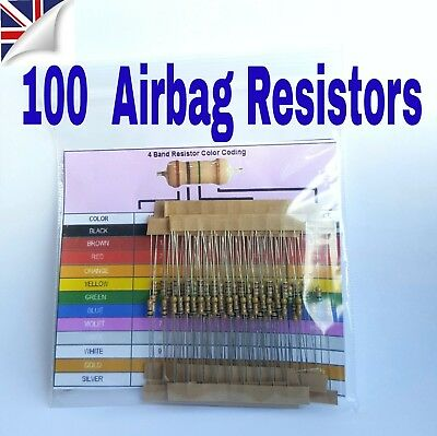 AIRBAG RESISTOR S 100 x Mixed  Trade Pack SRS tool mot light bypass all makes