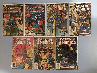 Captain America 7 issues between # 247 and 296 Marvel Comics