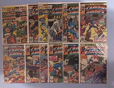 Captain America 13 isuses between # 200 and 252 Marvel Comics Bronze Age