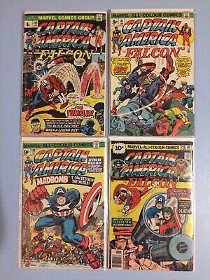 Captain America # 169, 181, 193 and 198 Marvel Comics Bronze Age