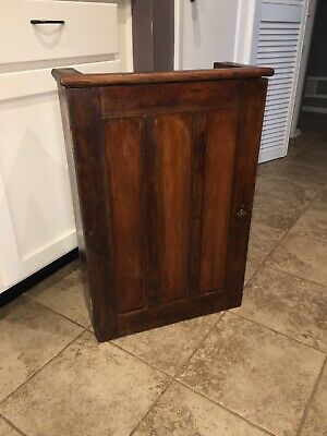 Antique Arts and Crafts Oak Wall Hanging Cabinet Primitive