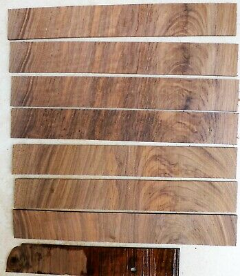 English Walnut thick cut approx 2 mm Veneer cross-banded 25 mm x 180 mm 7 pieces