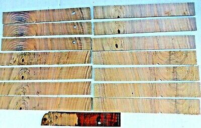 English Walnut Veneer cross-banded 2 mm thick cut approx 25 mm x 180 mm 7 pieces