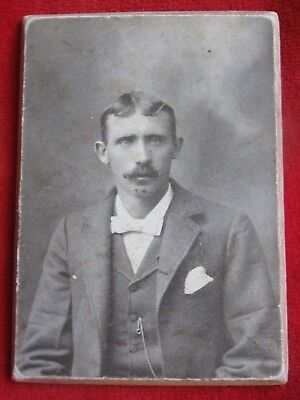 """Vintage Real  Photo of a Man 1900""""s On a Cardboard back"""