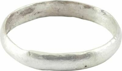 ANCIENT VIKING MAN'S WEDDING RING Norse Band C.850-1050 AD size 10 ¼. 20.8mm