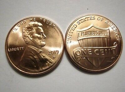 """2019 P&D Lincoln Cents """"FREE SHIPPING"""""""