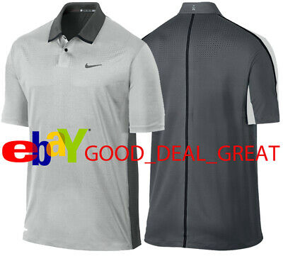c1e1df40 Nike TW Tiger Woods Perforated Panel Polo Shirt 585783-046 *Rare & Hard to