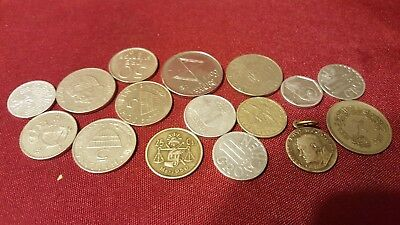 16 Pcs lot World coins Mixed Assorted old coins