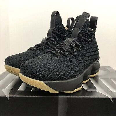 f3f0d3bdf79 Nike LeBron XV 15 GS Youth Basketball Shoes Black Gum Bottom Size 4.5Y  Womens 6