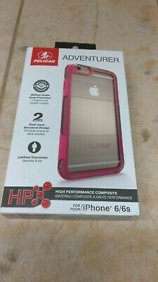 Pelican Adventurer Case for Apple iPhone 6 6s Clear Pink New OEM