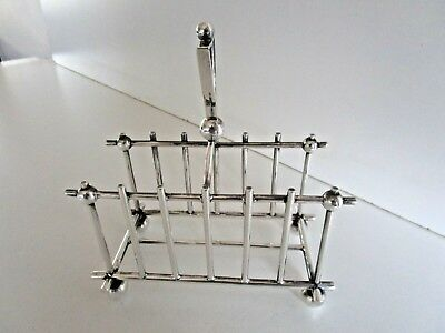 Large Silver Plated Toast Rack, Christopher Dresser Style, Circa 1890