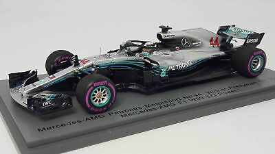 MERCEDES GP - F1 W09 LEWIS HAMILTON 2018 WORLD CHAMPION 44 WINNER Spark 1/43 !!