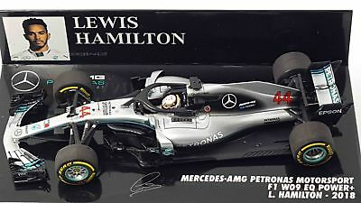 Minichamps Mercedes W09 Lewis Hamilton 2018 World Champion 1:43 410180044 !
