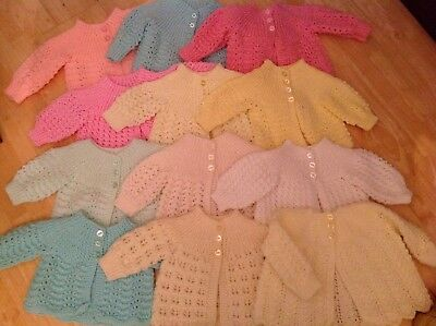 Beautiful Hand Knitted Traditional Baby Matinee Jackets - 0-3 Mths - 1 Supplied