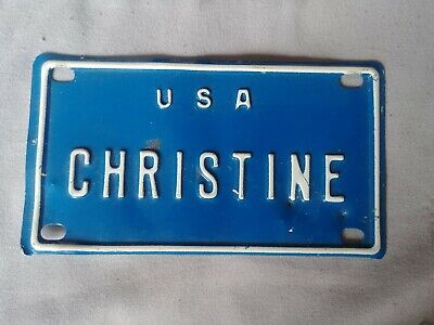 1960/'S VINTAGE MINI USA MADEA LICENSE PLATE NAME TAG SIGN BICYCLE VANITY PL8