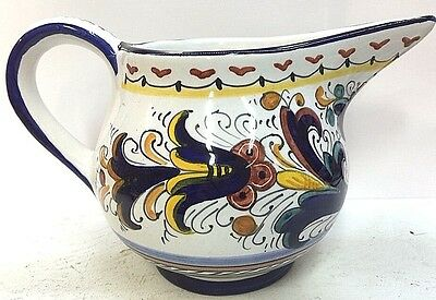 Deruta pottery-Ricco Deruta 1 Liter Pitcher.Made/painted by hand in Italy