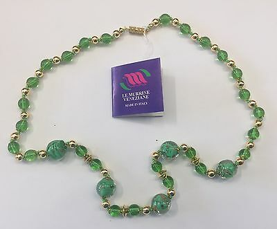 Murano Glass 24 inch Long Necklace.hand blown glass from Italy