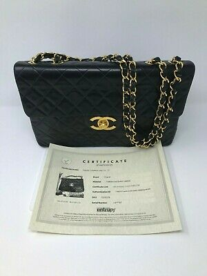 5cd3322d7941 Vintage Chanel Maxi Classic Handbag in Quilted Calfskin Leather   Gold w   COA