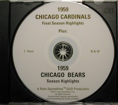 1959 Chicago Cardinals and Chicago Bears Highlights now both on one DVD!