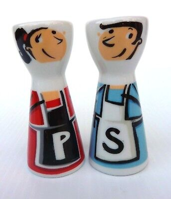 Ritzenhoff Mr Salt & Mrs. Pepper Shakers Designed by Stephanie Rare Collectible