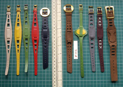 *Fab 1960s Unused Old Stock Colourful Dolly-Bird Pop-Art Wristwatch Straps x 10