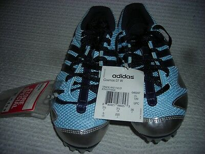 e7017283197 Women s Adidas Cosmos 07 Track and Field Shoe Cleats Size 5 New w  tags Blue