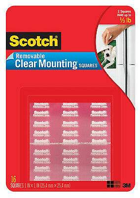 3M COMPANY 35-Pack Clear Removable Mounting Squares 859