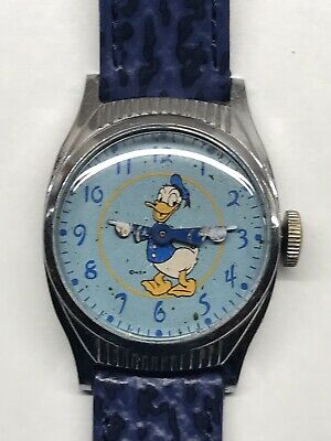 Vintage Ingersoll Donald Duck Wrist Watch 1940s Disney US Time Working Rare
