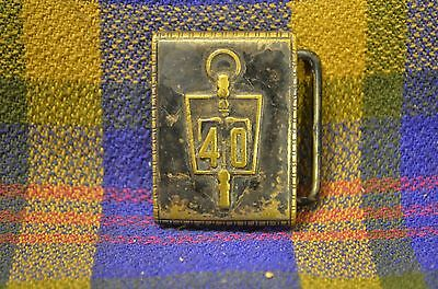 Vintage HICKOK Duro Plate Belt Buckle- 40 Year Design-Made in USA