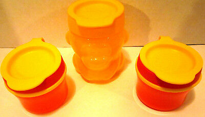 Lot of 3 Tupperware kids lunchbox storage containers Monkey and 2) 5oz. EUC