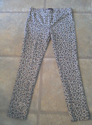 NWOT Children's Place Girl's Size XL 14 Gray Leopard Leggings With Gold Sequence