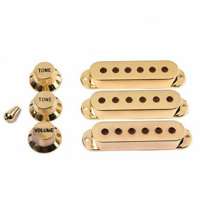 Gold Plated Single Coil Pickup Cover Set for Stratocaster Fender Strat Guitar