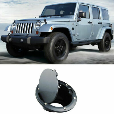 ABS 2007-2016 For Jeep Wrangler JK 2Dr / 4Dr Black Fuel Filler Door Gas Cover