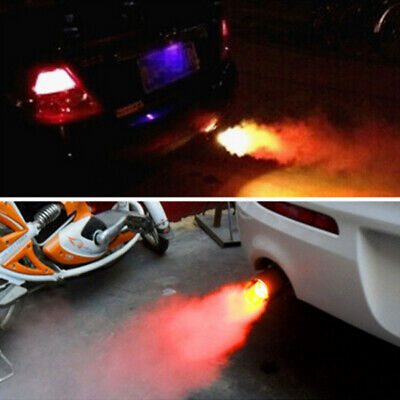 Universal Automobile Exhaust Pipe Flaming Muffler Tip Spitfire Red LED Light
