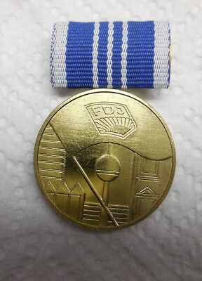 0748 EAST GERMAN Ddr Police Vopo Meritorious Service In Gold