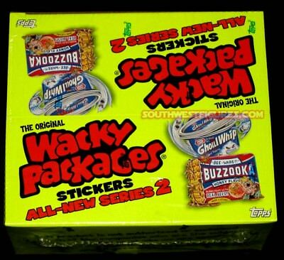 Wacky Packages ANS2 Factory Sealed Box (24 packs)(144 Items ea Box)(Topps 2005)
