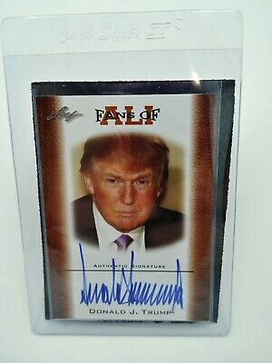 Signed Donald Trump Fans of Ali Card by Leaf with Free Shipping!