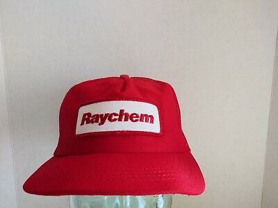 2068a779e7de5 Vintage Raychem SnapBack Trucker Hat Cap Embroidered Patch NOS Made In USA