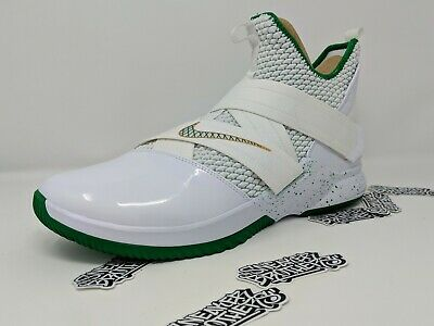 6858164f5bc1 Nike LeBron Soldier XII 12 SVSM St Vincent Mary Home White Green AO2609-100