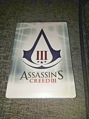 ASSASSINS CREED 3 Exclusive Empty Case G1 Rare Steelbook New&Sealed - No Game In