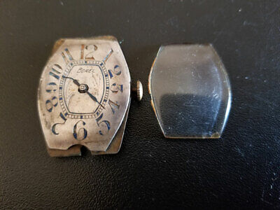 Borel SWISS Wrist Watch Movement Need Repair Parts Antique Vintage with Glass RR