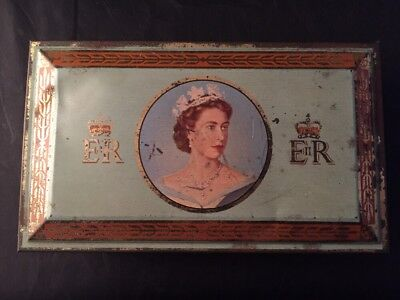 Coronation Of Her Majisty Queen Elisabeth ll 1953 Wold Woodbine Cigarettes Tin