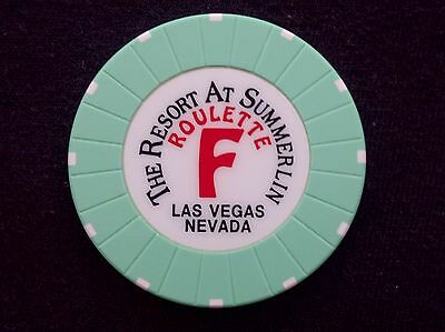 "Roulette Casino Chip -- The Resort At Summerlin -- Las Vegas, Nv -- ""Obsolete"""