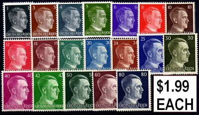 20 Diff Rare Orig Mint Unused Ww2 Hitler Stamps!! 100% Uncancelled! Best Price!!