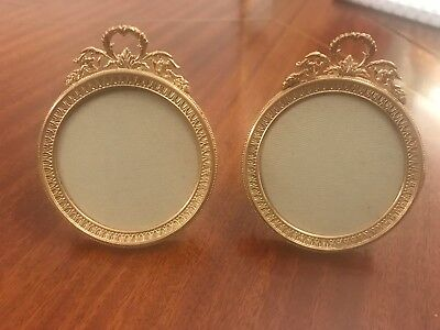 Antique Pair Of Solid Bronze Portrait French Excellent Quality