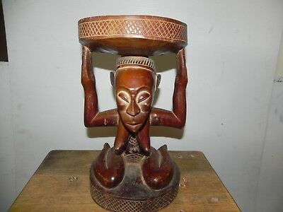 "Arts of Africa - Luba Stool - DRC Congo - 13.5"" Height x 8"" Wide"